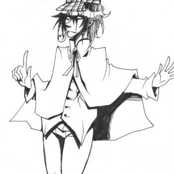 Goku en Sherlock - Pour ayaluna - Festiblog 2011