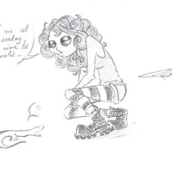 Un précepte de vie pour un lézard par Meteore - Pour Ayaluna - Festiblog 2011 - La vie est un sextoy qui aime les raviolis