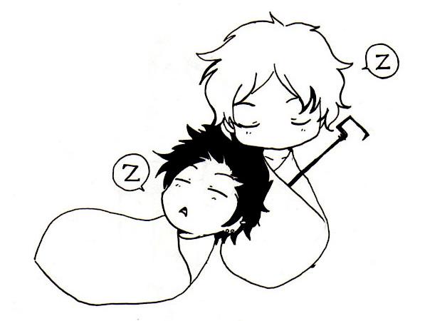 Yamato et le lord qui dorment en formes de poires! Quand je manque de sommeil je dessine ce genre de trucs xD